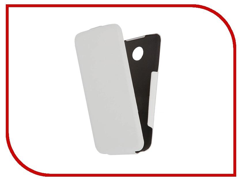 Аксессуар Чехол Lenovo A390 Scobe Leather Edition White<br>