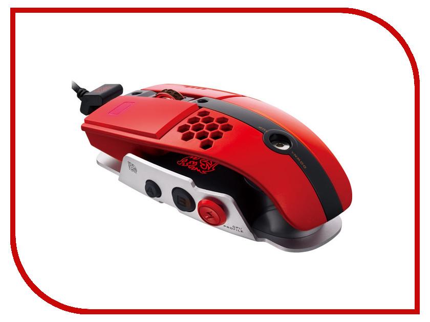 Мышь проводная Tt eSports By Thermaltake Gaming mouse Level 10M MO-LTM009DTL Red<br>