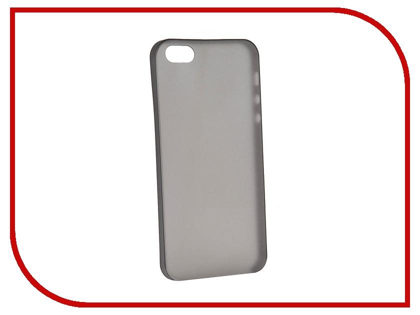 Аксессуар Защитная крышка Liberty Project for iPhone 5 супертонкая 0.3mm Black Clear SM000243<br>