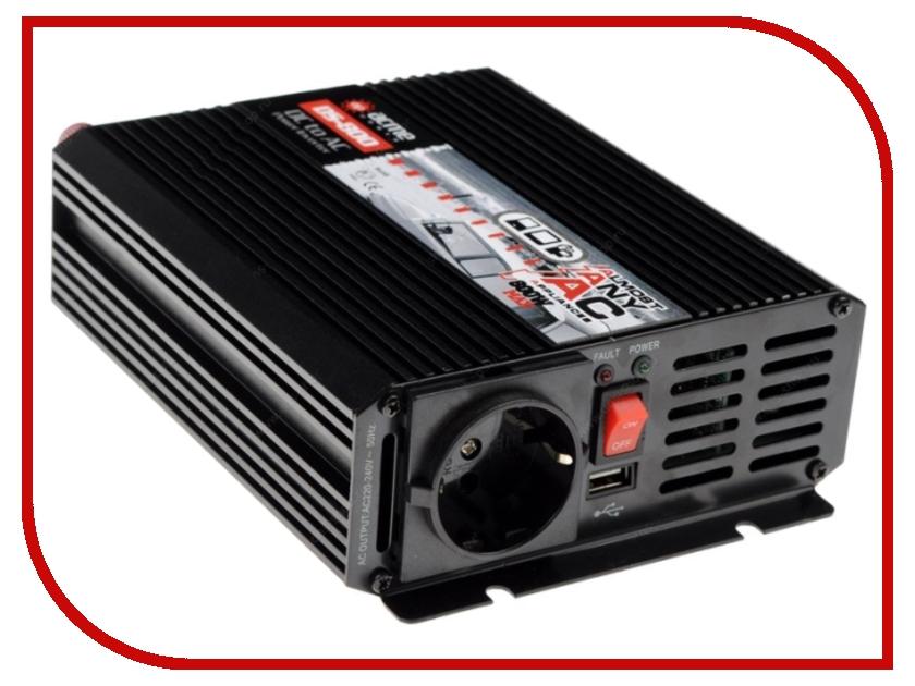 Автоинвертор AcmePower AP-DS800/24 (800Вт) с 24В на 220В