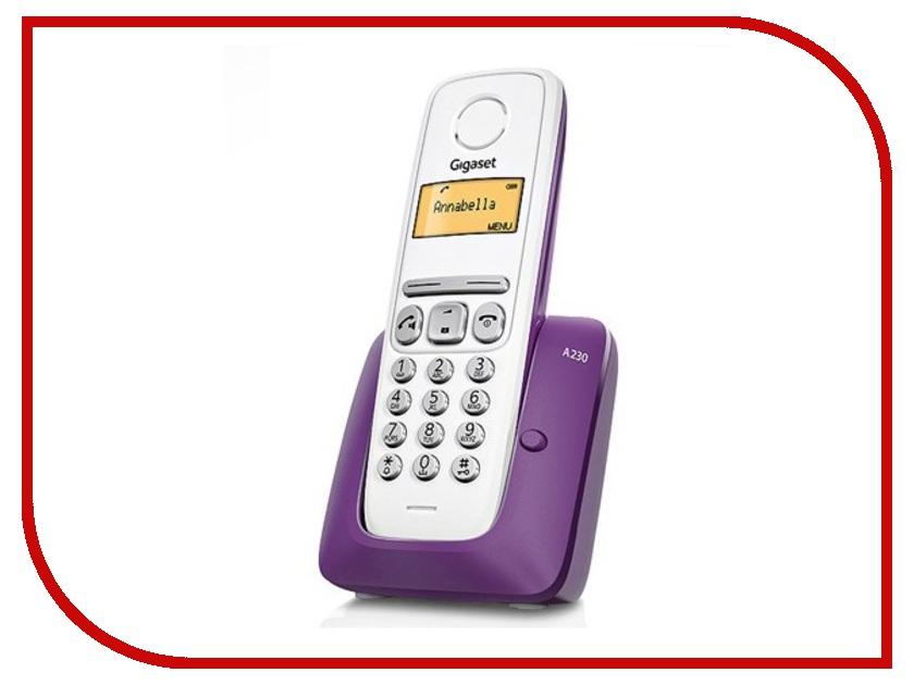 Радиотелефон Gigaset A230 Purple радиотелефон siemens gigaset a220a серый s30852 h2431 s303