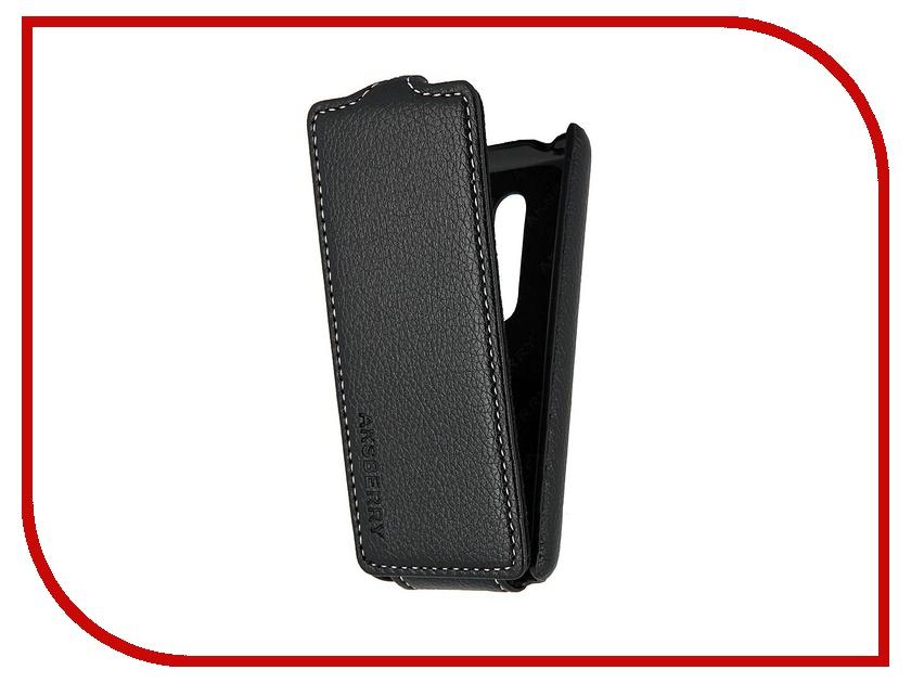 Аксессуар Чехол Nokia Asha 206 Aksberry Black<br>