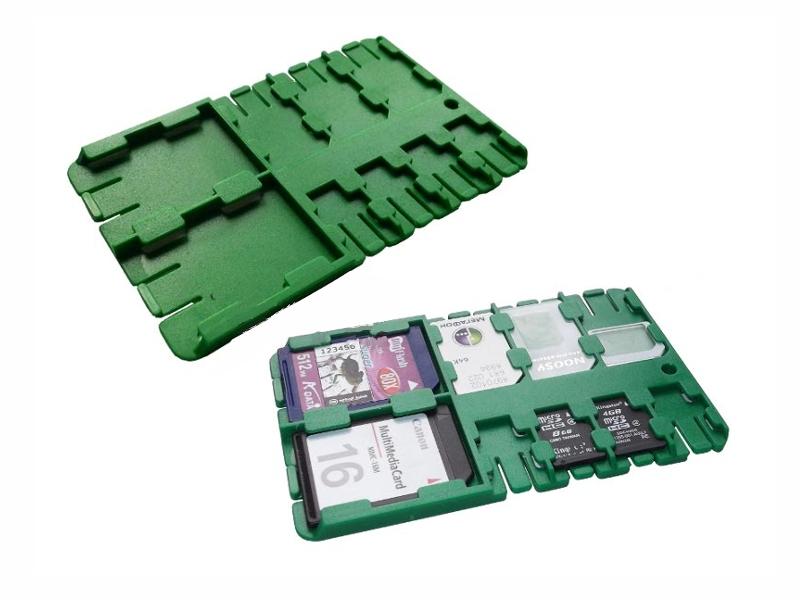Футляр REFI Holder SD / microSD SIM Green