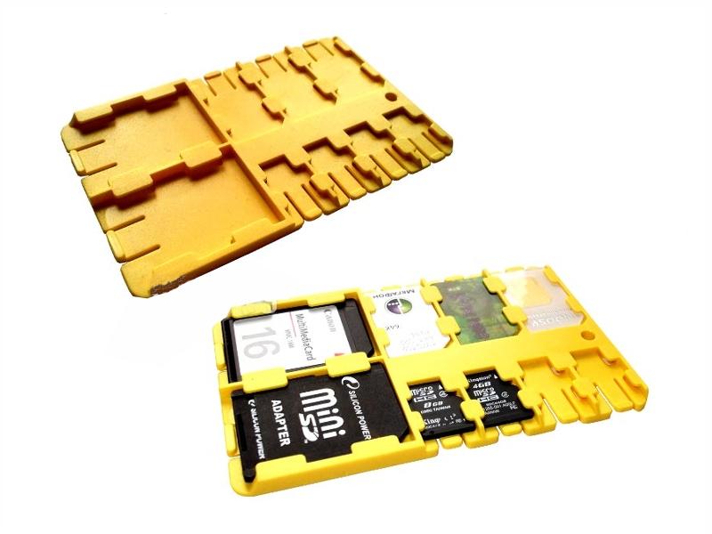 Футляр REFI Holder SD / microSD SIM Yellow