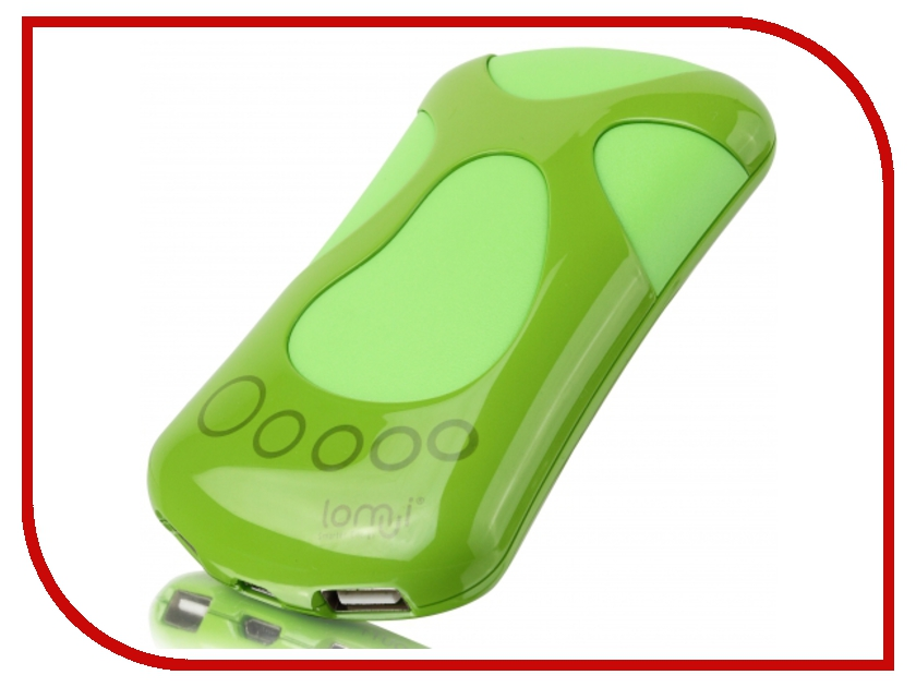 Аккумулятор Lomui Power Bank L682 Baby foot 6800 mAh Green<br>