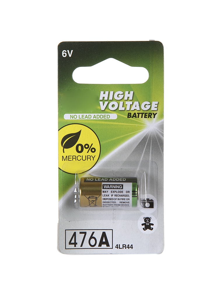 Батарейка 4LR44 - GP High Voltage 6V 476AFRA-2C1 (1 штука)