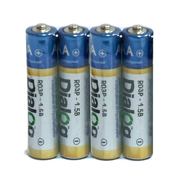 Батарейка AAA - Dialog R03P-4S (4 штуки)