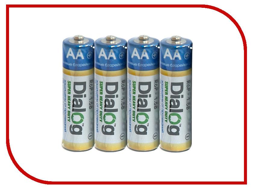 Батарейка AA - Dialog R6P-4S (4 штуки)<br>