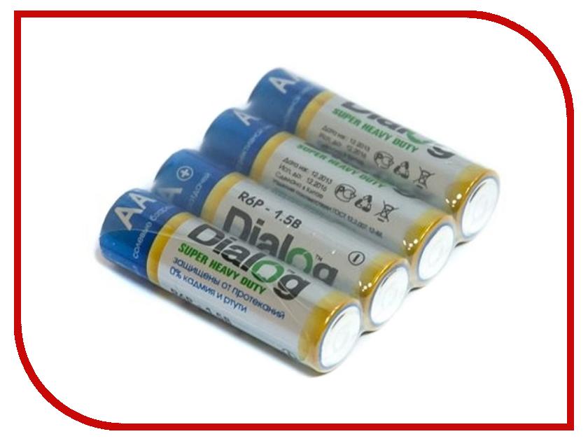 Батарейка AA - Dialog R6P-4B (4 штуки)<br>