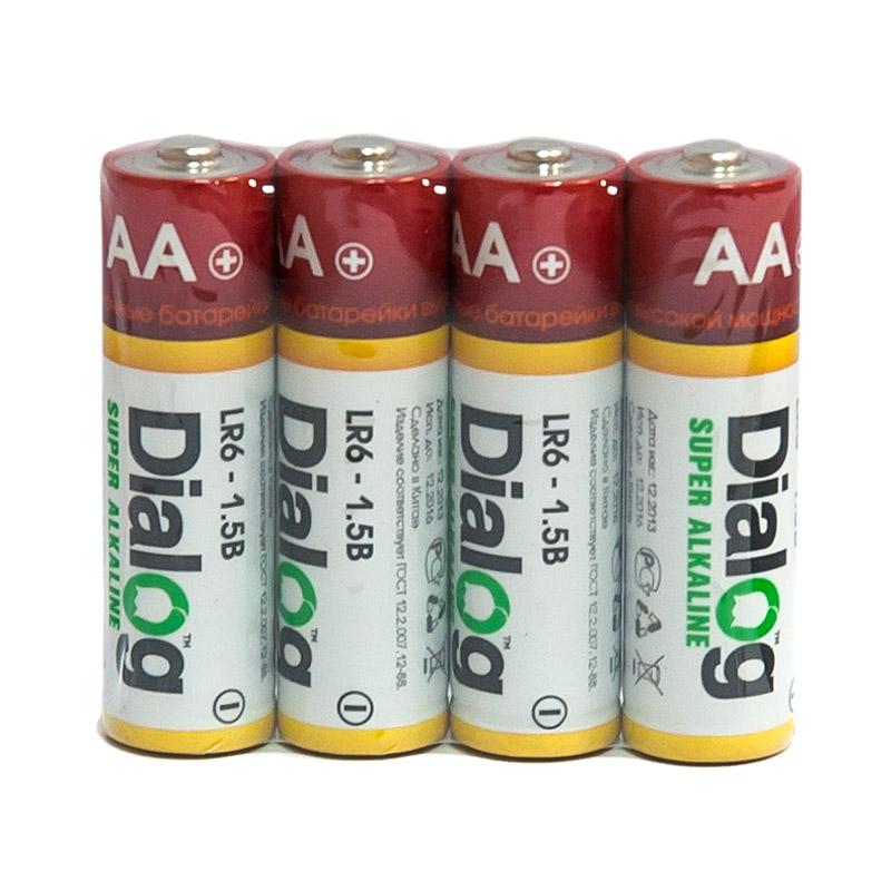 Батарейка AA - Dialog LR6-4S (4 штуки)