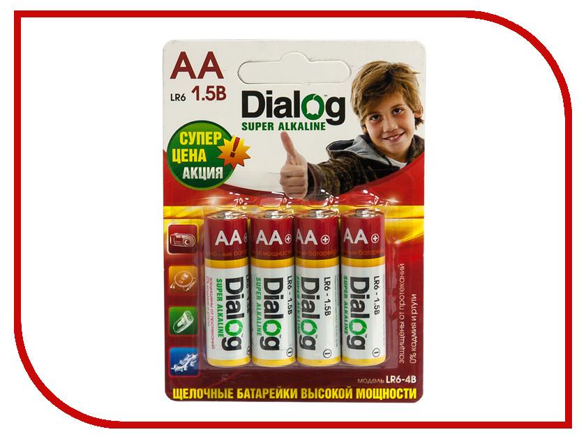 Батарейка AA - Dialog LR6-4B (4 штуки)