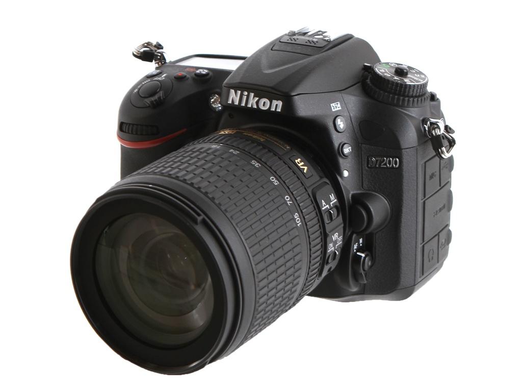 Фотоаппарат Nikon D7200 Kit AF-S DX VR 18-105 mm f/3.5-5.6G ED цифровой фотоаппарат nikon d 5300 kit dx 18 55 vr af p черный