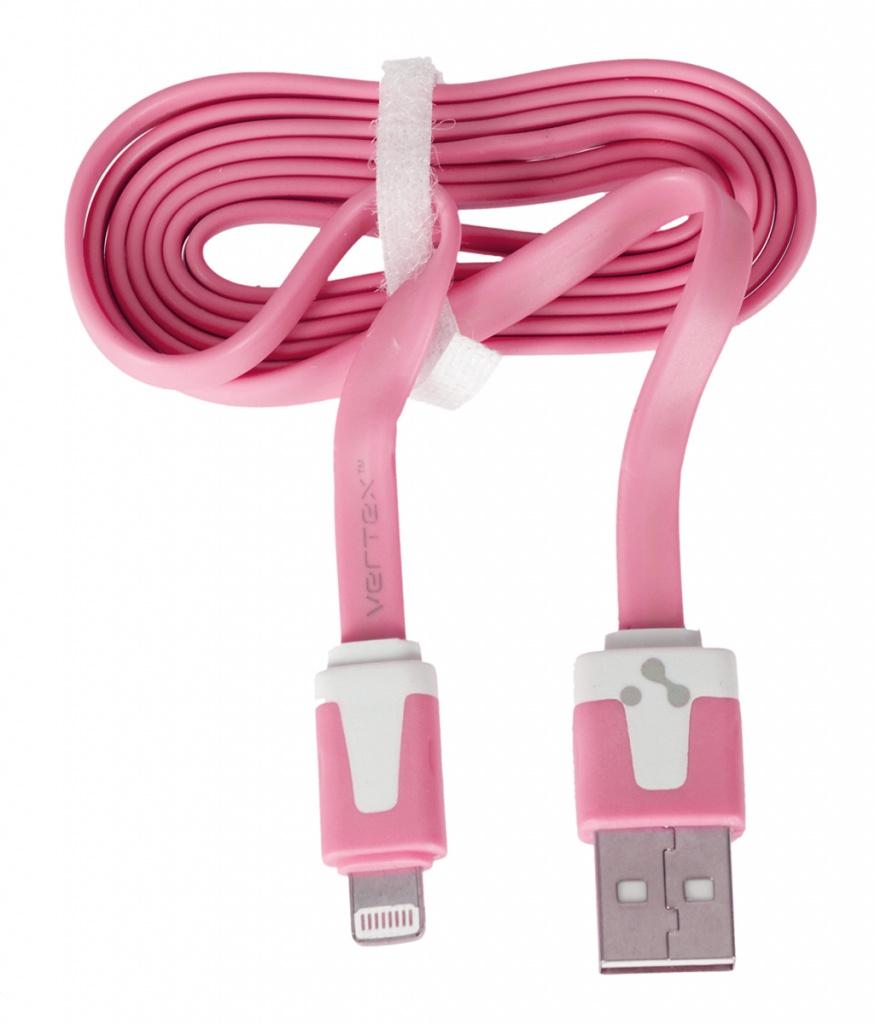 Аксессуар Vertex Fancy S8pin for iPad mini /Air / iPhone 5/5S/5C / iPod Touch 5/Nano 7 Pink DCUSBS8PINPA