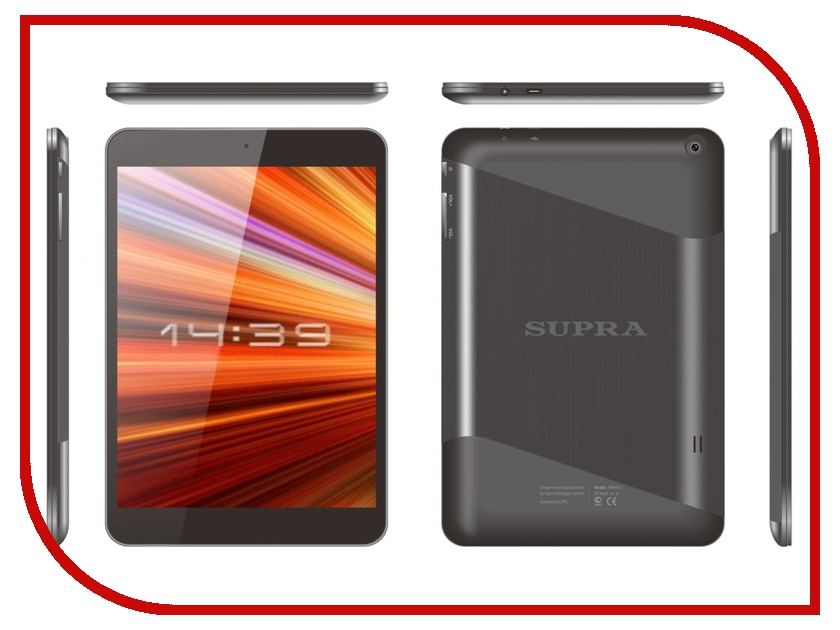 Планшет SUPRA M846G Dark Grey MT8382 1.2 GHz/1024Mb/8Gb/Wi-Fi/3G/Bluetooth/Cam/7.85/1024x768/Android