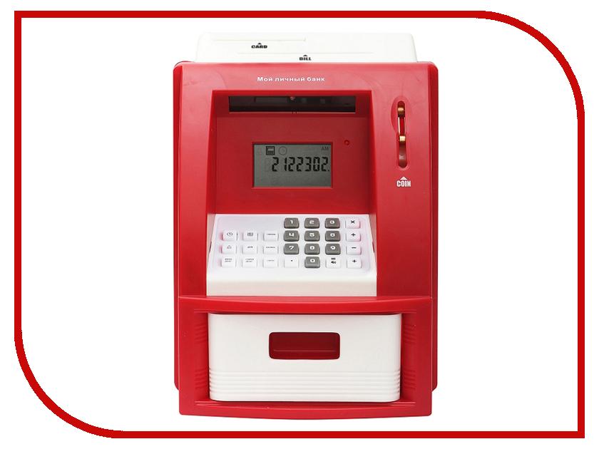 Копилка для денег Эврика Банкомат 91911 Red копилка электронная банкомат цвет красный