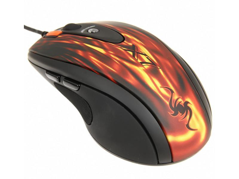 Мышь A4Tech XL-750BK Fiery Red