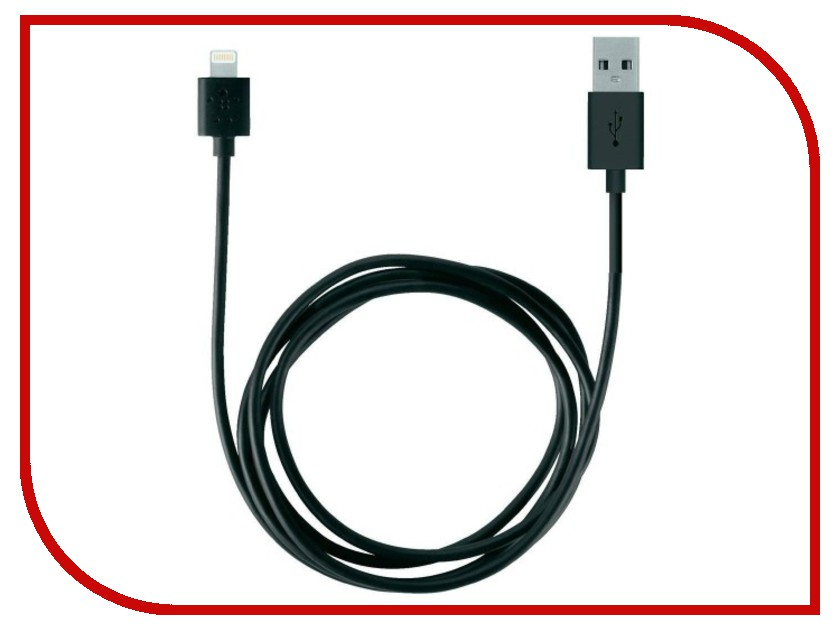 Аксессуар Belkin Lightning to USB Cable 1.2m Black F8J023bt04-BLK