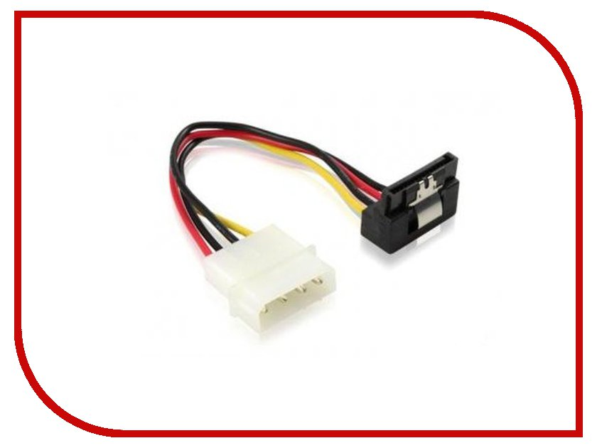 Greenconnect - Аксессуар Greenconnect MOLEX to SATA 15pin угловой разъем 0.15m GC-ST202