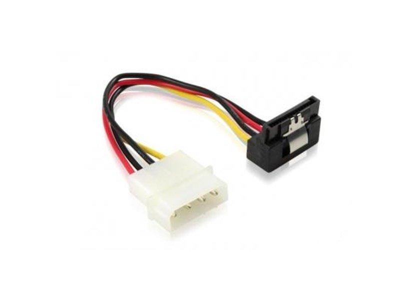 Аксессуар Greenconnect MOLEX to SATA 15pin угловой разъем 0.15m GC-ST202