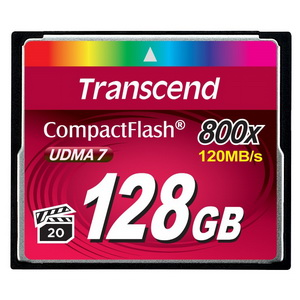 Карта памяти 128Gb - Transcend 800x Ultra Speed Compact Flash TS128GCF800