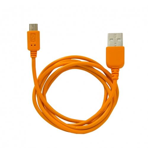 Аксессуар CBR CB 270 / Human Friends Super Link Rainbow M microUSB to USB Cable 1m Orange<br>