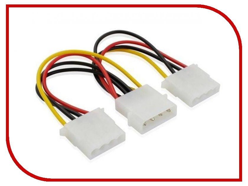 Аксессуар Greenconnect 4pin Molex-2x4pin Molex GC-ST204<br>