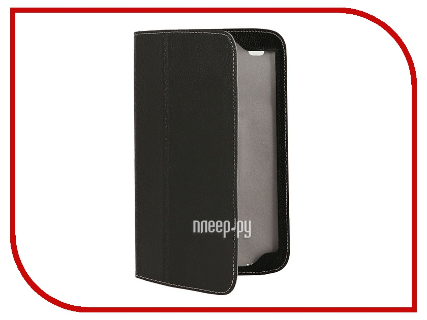 Аксессуар Чехол Jet.A SC8-26 for Galaxy Tab 3 8.0 нат. кожа Black/Grey<br>