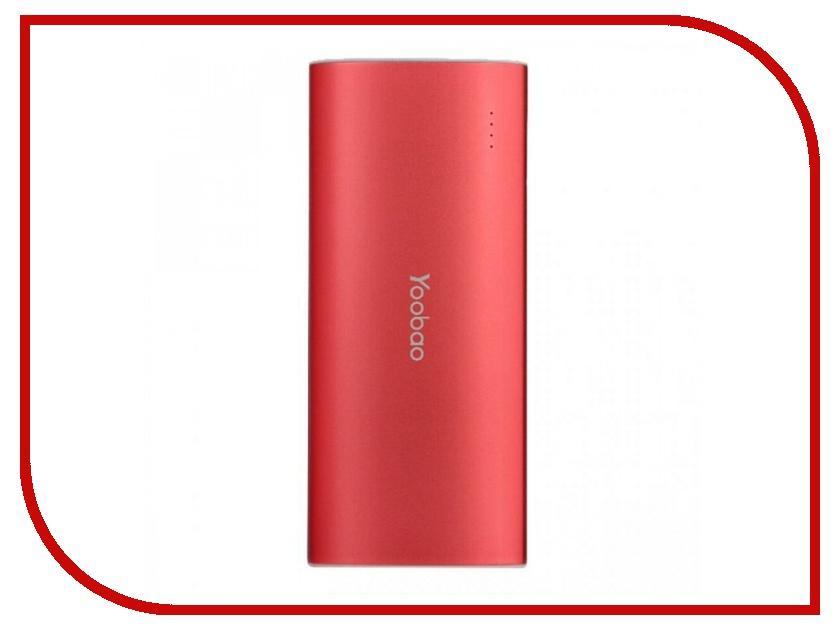Аккумулятор Yoobao YB-6016 13000mAh Red аккумулятор yoobao power bank master m3 yb 6013 7800mah red