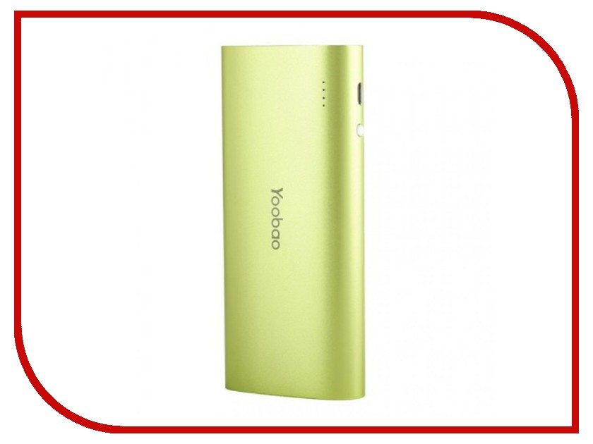 Аккумулятор Yoobao YB-6016 13000mAh Green аксессуар yoobao usb type c microusb lightning yb 453 gold