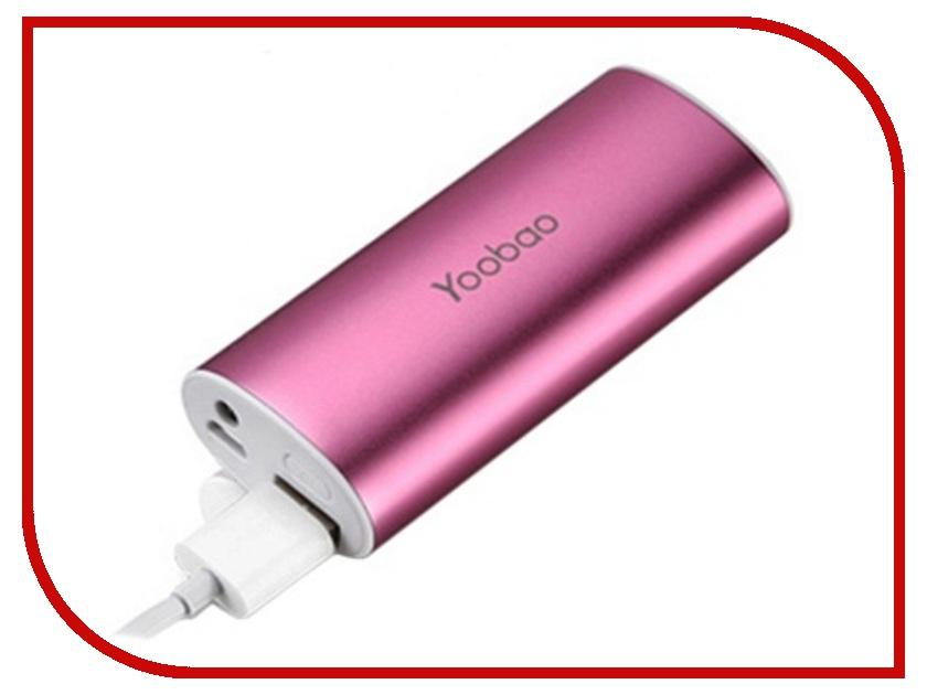 Аккумулятор Yoobao YB-6012 PRO 6200mAh Pink аксессуар yoobao usb type c microusb lightning yb 453 gold