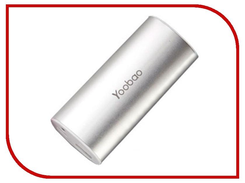 Аккумулятор Yoobao 5200 mAh YB-6012 Silver
