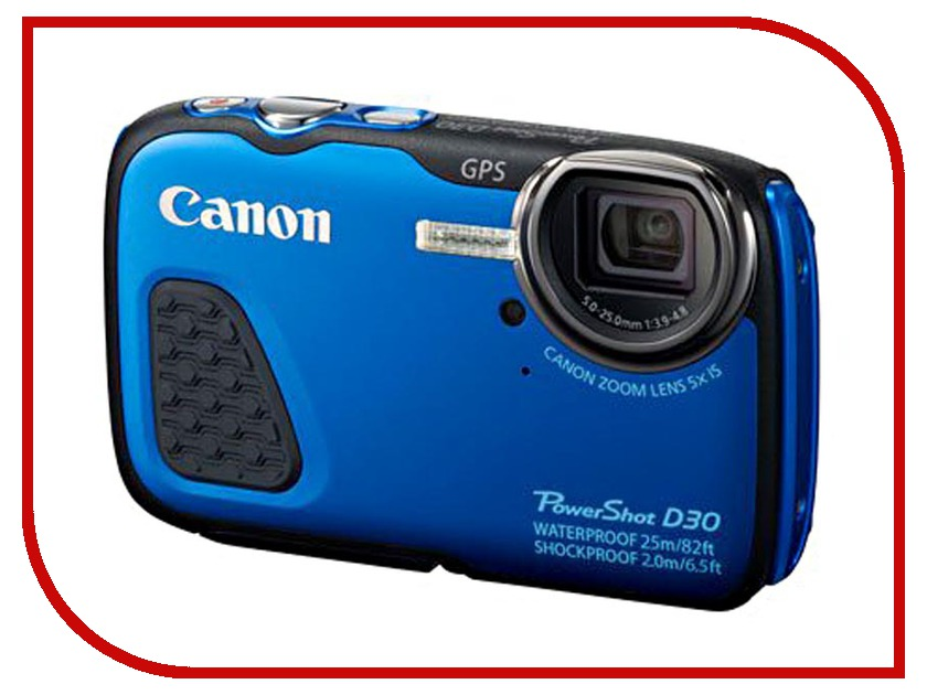 Фотоаппарат Canon PowerShot D30 Blue<br>