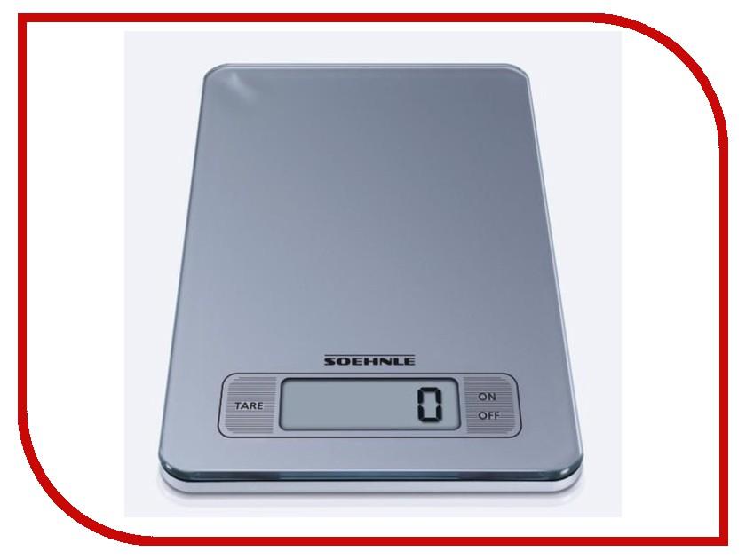 Весы Soehnle Slim Design Silver 66107 soehnle весы кухонные электронные soehnle slim design page 66100 0mfnt3s