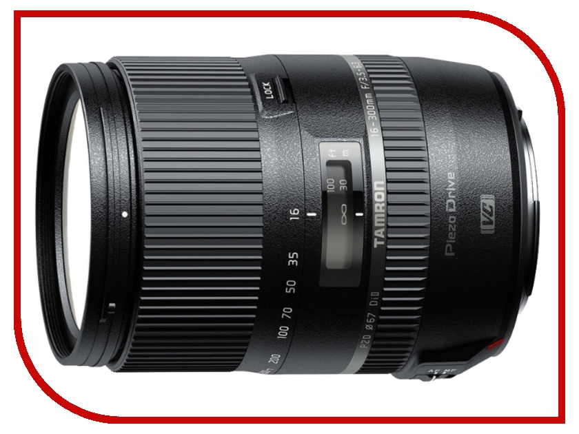 объективы для Canon AF VC 16-300 mm f/3.5-6.3  Объектив Tamron Canon AF VC 16-300 mm F/3.5-6.3 Di II PZD Macro
