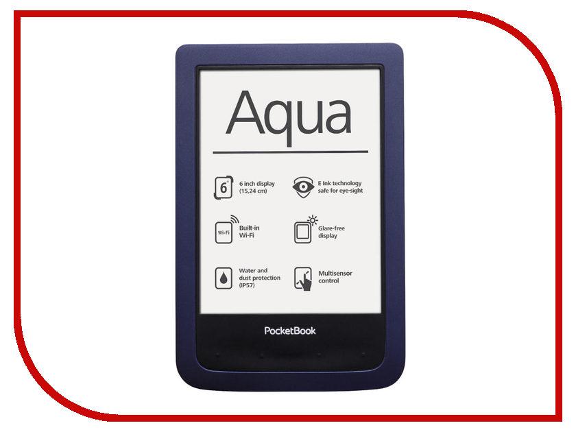 Электронная книга PocketBook Aqua 640 Dark Blue PB640-B-RU<br>