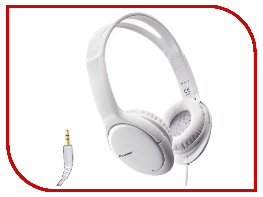 Наушники Pioneer SE-MJ711 White гарнитура pioneer se mj771bt black