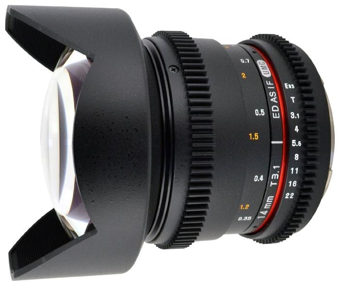 Объектив Samyang Canon MF 14 mm T3.1 ED AS IF UMC VDSLR II цена и фото