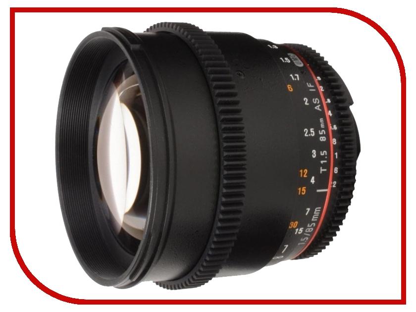 Объектив Samyang 85mm T1.5 AS IF UMC VDSLR II Canon EF объектив samyang 85mm f 1 4 as if canon ef