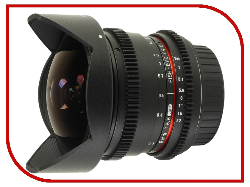 Объектив Samyang Canon MF 8 mm T3.8 AS IF UMC Fish-eye CS II VDSLR II объектив samyang canon mf 8 mm f 3 5 as if umc fish eye cs ii