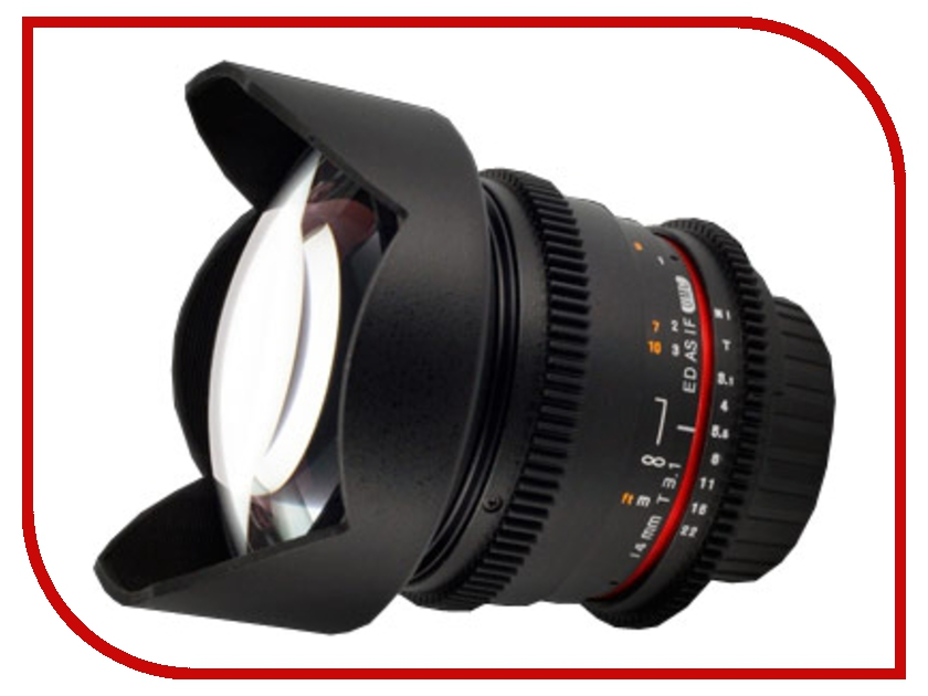 Объектив Samyang Nikon MF 14 mm T3.1 ED AS IF UMC VDSLR<br>