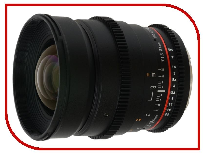 Объектив Samyang Nikon MF 24 mm T1.5 ED AS UMC VDSLR