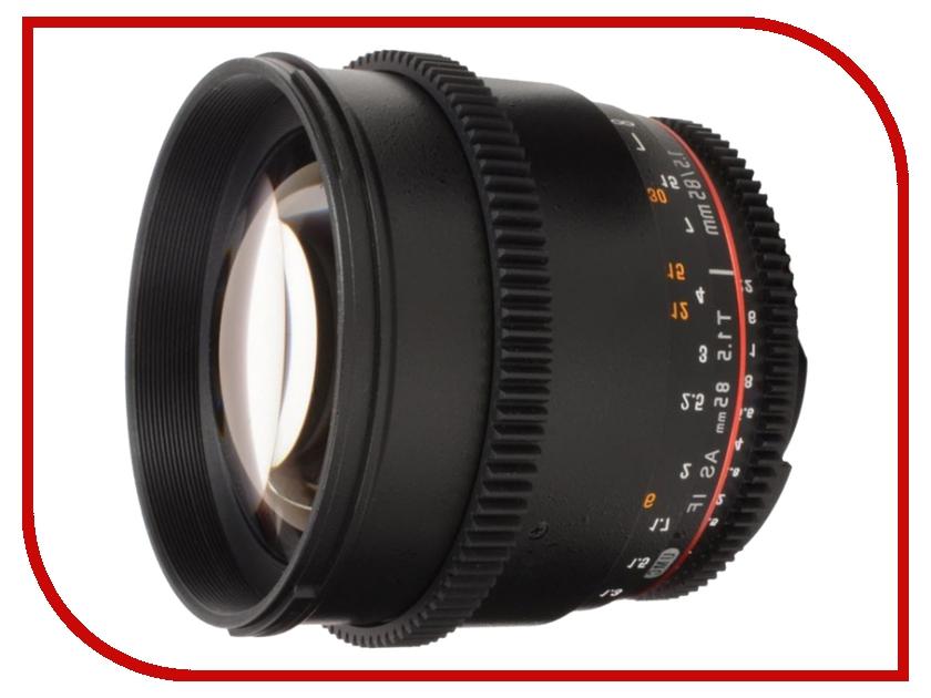 Объектив Samyang Nikon MF 85 mm T1.5 AS IF UMC VDSLR rovertime rovertime rtm 85
