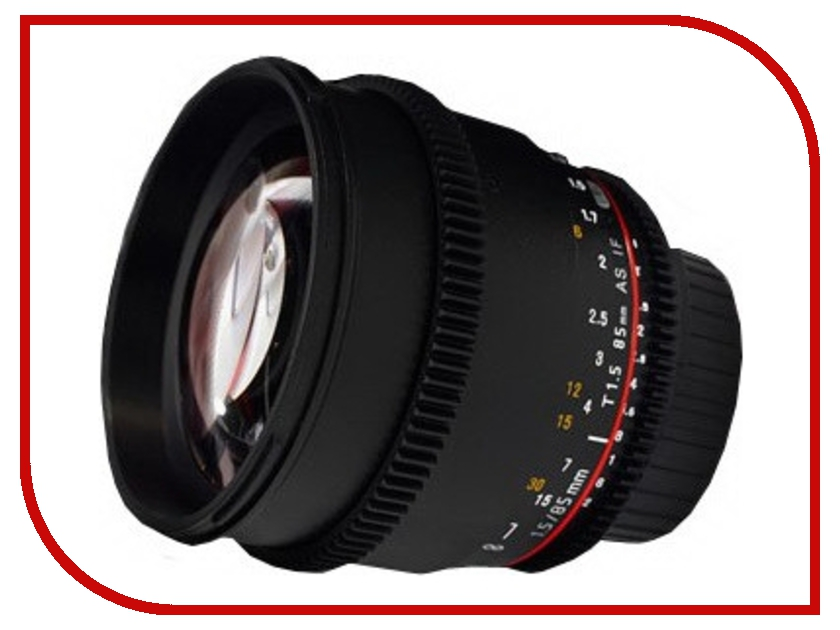 Объектив Samyang Sony / Minolta MF 85 mm T1.5 AS IF UMC VDSLRобъективы для Sony/Minolta<br><br>
