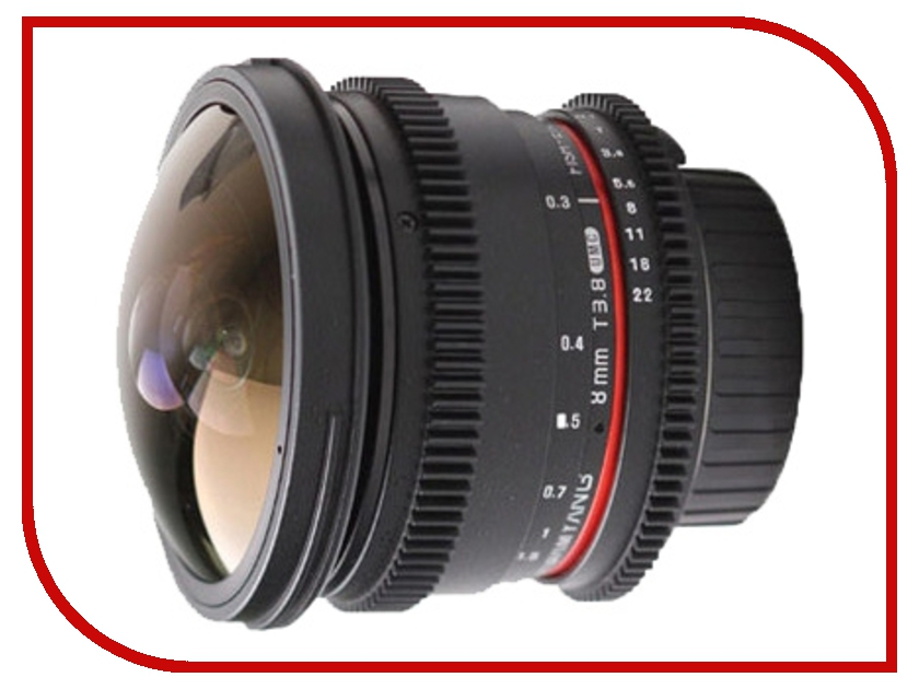 Объектив Samyang Sony / Minolta MF 8 mm T3.8 AS IF UMC Fish-eye CS II VDSLR объектив samyang canon mf 8 mm f 3 5 as if umc fish eye cs ii