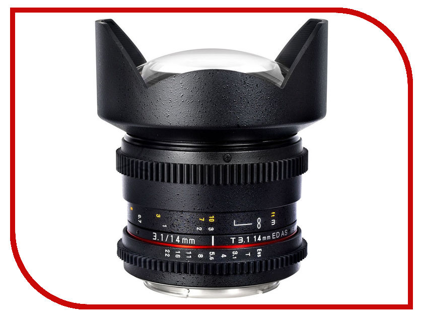 Объектив Samyang Sony E NEX MF 14 mm T3.1 ED AS IF UMC VDSLR<br>