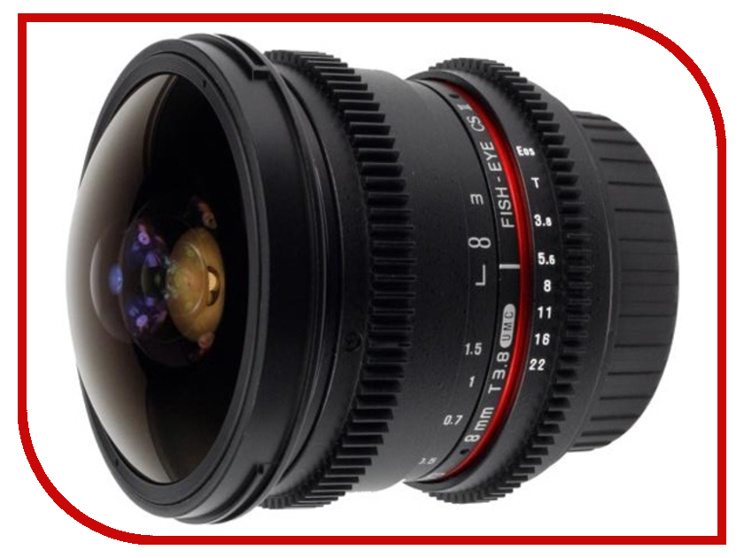 Объектив Samyang Sony E NEX MF 8 mm T3.8 AS IF UMC Fish-eye CS II VDSLR