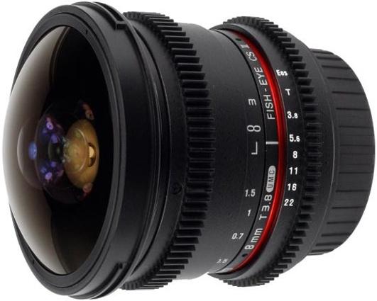 Объектив Samyang Sony E NEX MF 8 mm T3.8 AS IF UMC Fish-eye CS II VDSLR<br>