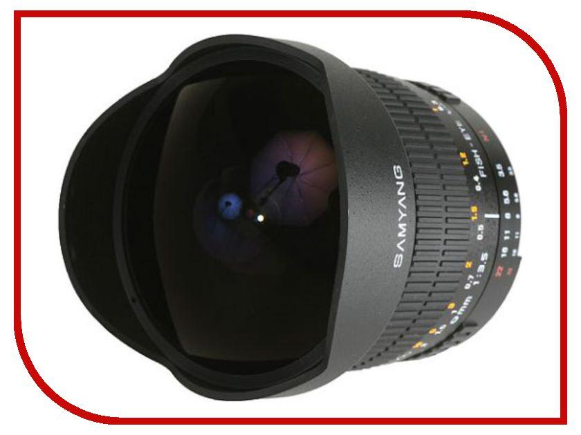 Объектив Samyang Sony / Minolta MF 8 mm F/3.5 Fish-eye UMC II CS<br>