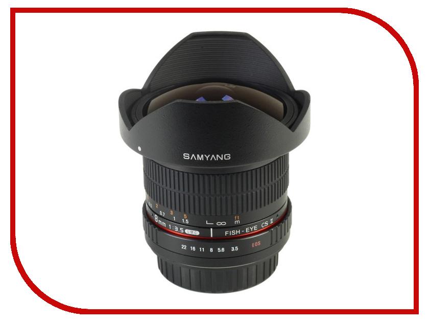Объектив Samyang Olympus 4/3 MF 8 mm F/3.5 Fish-eye UMC II CS<br>