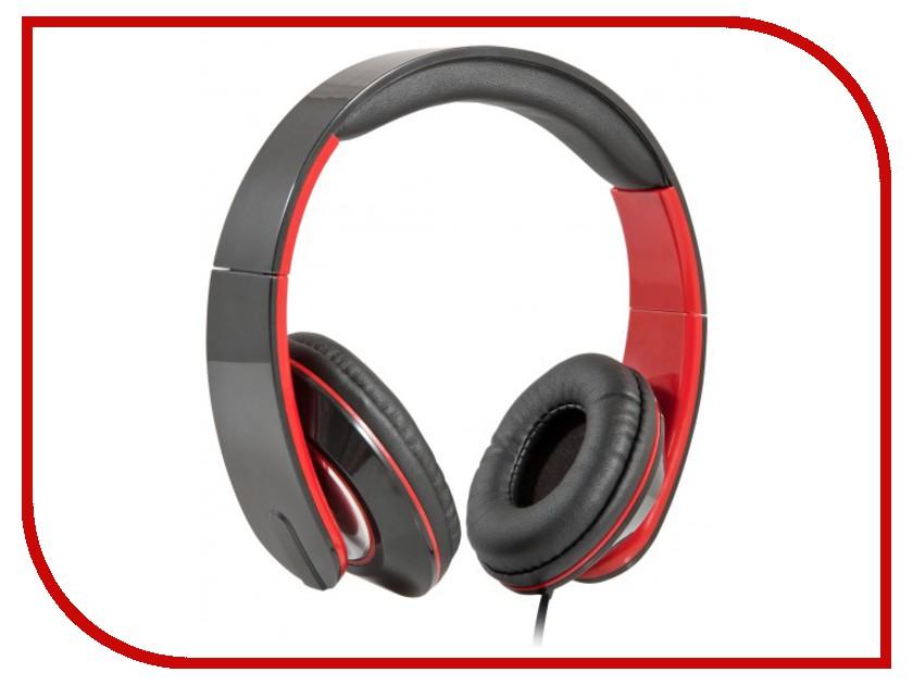 Гарнитура Defender Accord-169 Black-Red 63169<br>